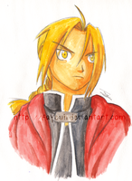 Edward Elric - watercolor by Fayeuh