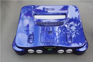 custom painted pearl blue Nintendo 64 N64 by Zoki64