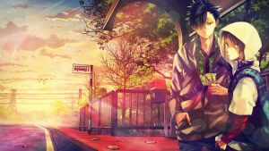 BusStop Morning - Kenma and Kuroo by 34Kai