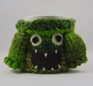 Mabel Sweater Mug Cosy - Green Monster by TheSweaterProject