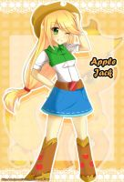 Equestria Girls Applejack by SakuraAlice33