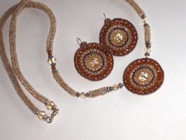 Doily Necklace and Earrings by MyFairLadyVT4