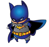 Chibi Batman Colored by CliffEngland