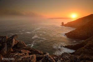 Sunrise at Pointe du Raz II by matthieu-parmentier