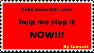 child abuse stamp by Samcatt