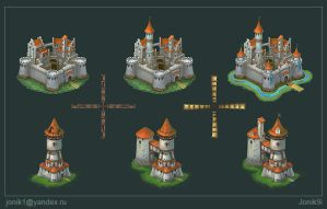 Buildings for game. Part 1 by Jonik9i
