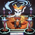 Braixen Used-Wil-O-Wisp!! by MagicalMaxy