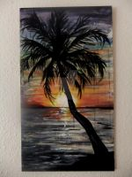 Palm Tree Silhouette Sunset by nrobinson00