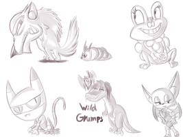 Critter Doodles by megadrivesonic
