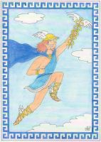 The 12 Olympians: Hermes by EmperorNortonII