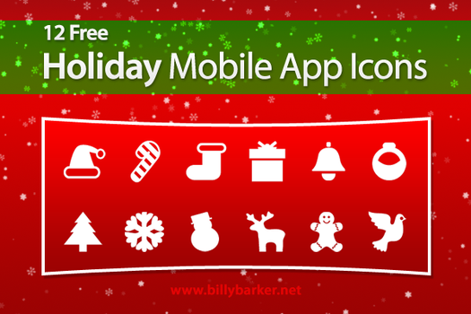 Holiday Mobile App Icons by yt458
