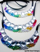 Rainbow Bridesmaid Necklaces by Natalie526