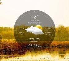 Circle Weather for xwidget by jimking