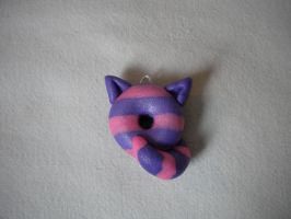 Cheshire Cat Donut Pendant by cockfighter