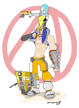 Kreig, Maya, and Claptrap - Finished by KairiStrife90