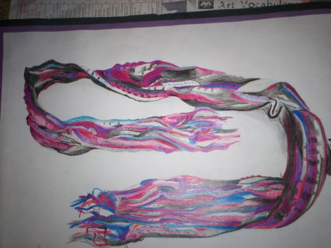 Scarf drawing- Art project by Holsmetree