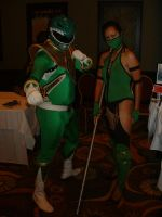Green Ranger and Jade by WereDragonMan
