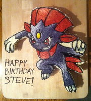Weavile Pokemon Cake by Yolandaaaaa