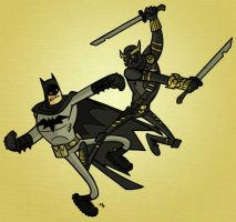 Batman Vs Talon by tyrannus