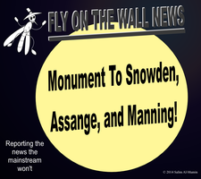 Monument To Snowden, Assange, and Manning! by IAmTheUnison