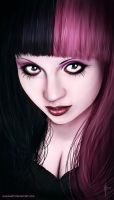Goth Girl Portrait by ElkhanArt