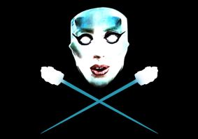 Mother G.O.A.T. Flag - Gaga's Jolly Roger by anoanoanoano