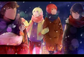 Tsuritama--- Happy New Year by zxs1103