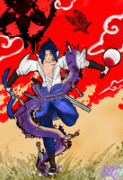 Uchiha Sasuke - Snake to Hawk. by BonnyJohn