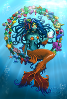 Mandarin Mermaid by JennaHickman