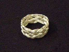 5 Lead 9 Bight turks head ring by Shizzar