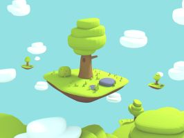 3d cartoon illustration for a ios game by brainchilds