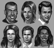Suits study sketches by ebagg