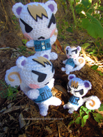 AC:NL-  Amigurumi Marshal dolls by Rainbowbubbles
