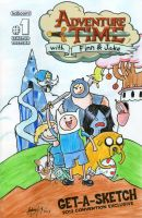 Adventure Time comic cover by johnnyism
