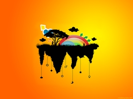 Rainbow Land - Colorful Vector by Chiddaling