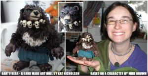 Bantu Bear Original Art Doll by Kat-Nicholson