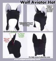 Cosplay Aviator Wolf Ear Hat by calgarycosplay