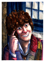 DW Watercolour-Tom Baker by Yootah
