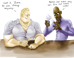 Mr. Incredible and Frozone by supervannah