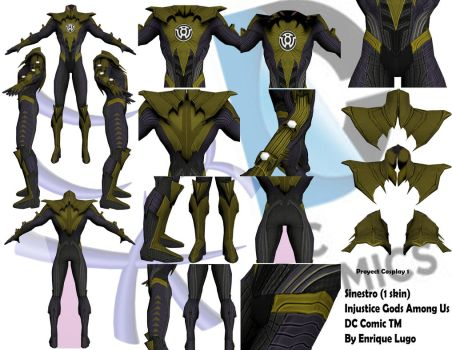 Sinestro cosplay proyect by Ruxkan
