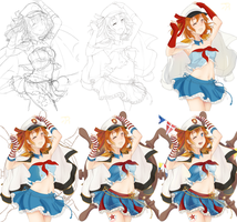 Process Shots of Marine Honoka by Tiribrush