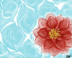 Red Water Lily by ArtEatsYou
