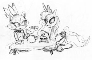 Tea Party sketch by Inspectornills