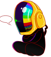Chibi Daft Punk by CloverWing