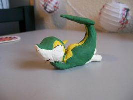 Snivy Sculpture 1 by DREAM-unWINDing