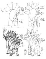 Draw a Stegosaurus 2 by Diana-Huang
