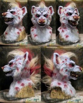 Dominotwist hyena character commission by Crystumes