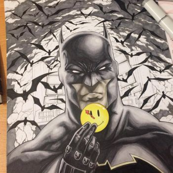 Batman The Button by krnozine