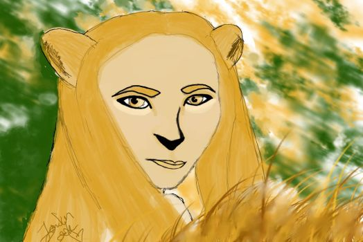 So I drew my girlfriend as a lioness by Londonatheart1475