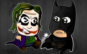 The Joker and Batman by kapaeme